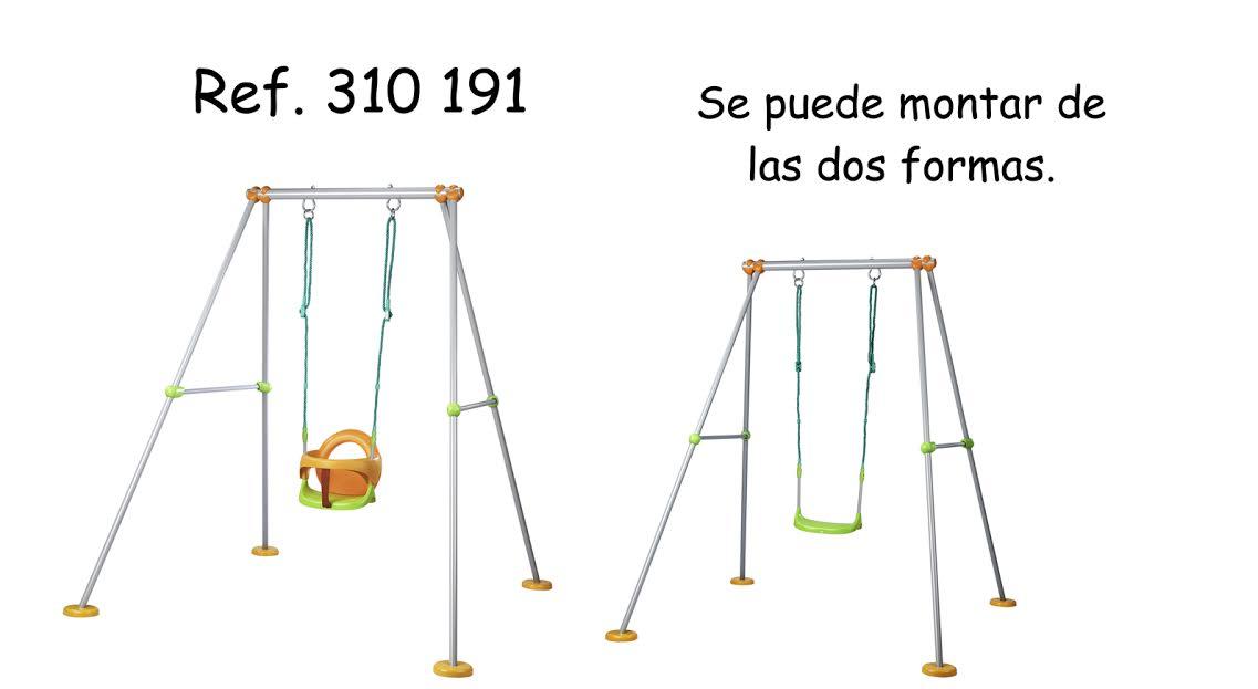SMOBY 310191 Portique kovová hojdačka Plus 180 cm vysoká od 12 mesiacov