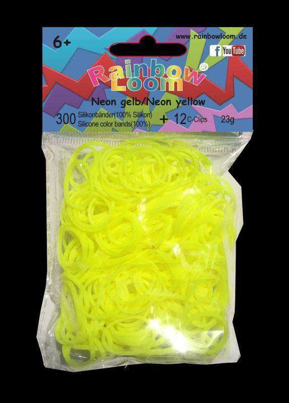 RAINBOW LOOM 20228 Original gumičky 300 kusov neónová žltá 05844