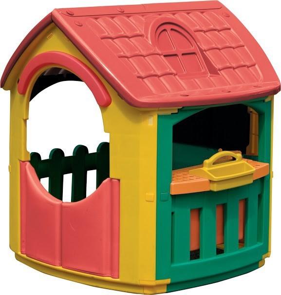 MARIANPLAST 300-0664 detský domček s pracovným stolom a zverákom, 101*108*111 cm