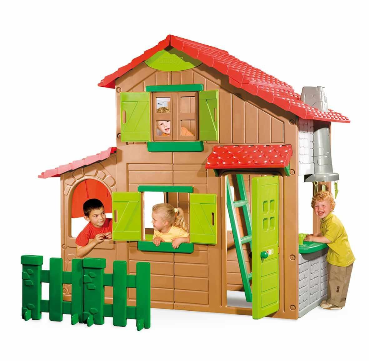 SMOBY 320020 Domček Duplex 2 poschodia so zvončekom so 6 doplnkami a s UV filtrom 204 cm vysoký