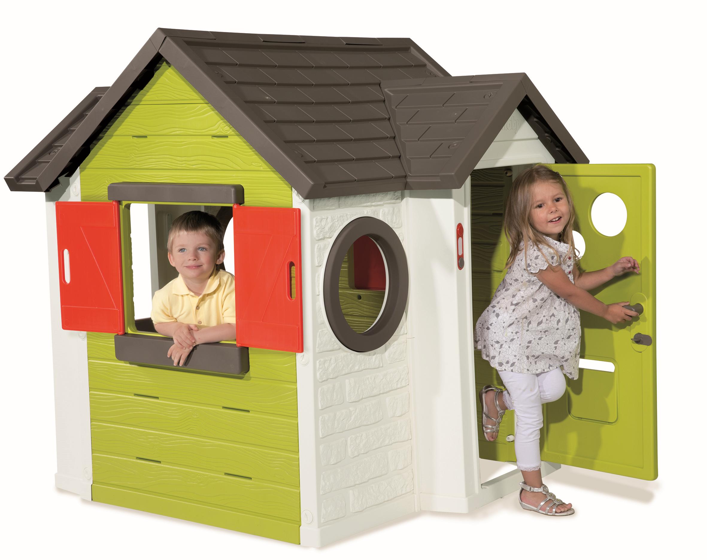 SMOBY 310228 domček My House s 2 dverami okrúhlym oknom a zvončekom UV filtrom 135 cm vysoký