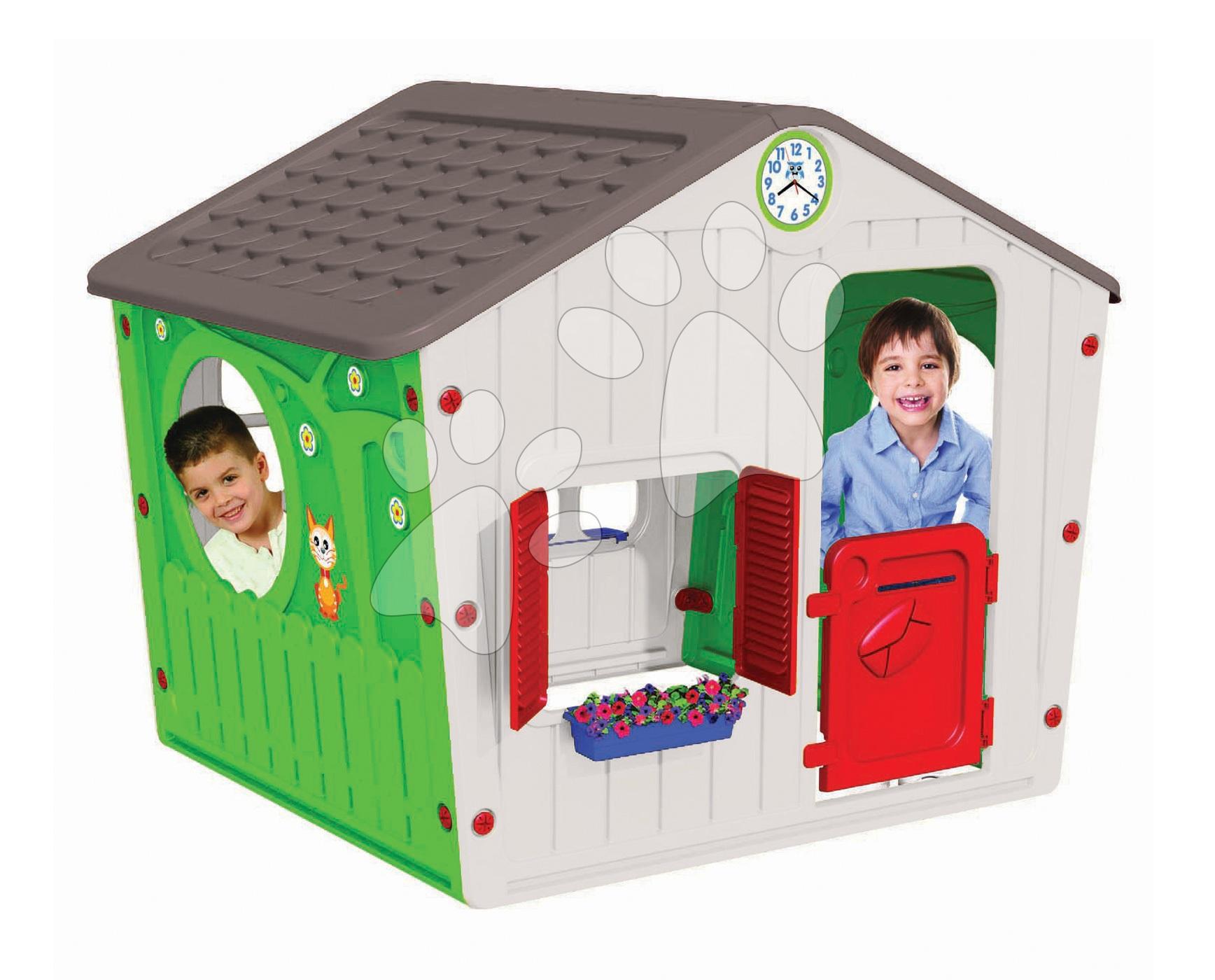 Domčeky pre deti - Domček Galilee Village House Starplast zeleno-béžový od 24 mes