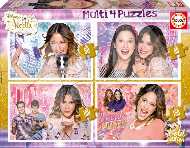 Progresívne detské puzzle - Puzzle Disney Violetta Educa 50-80-100-150 dielov od 5 rokov