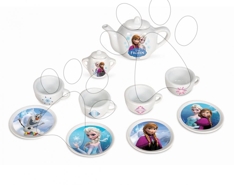 Dětská čajová souprava Frozen Smoby porcelánová s 12 doplňky