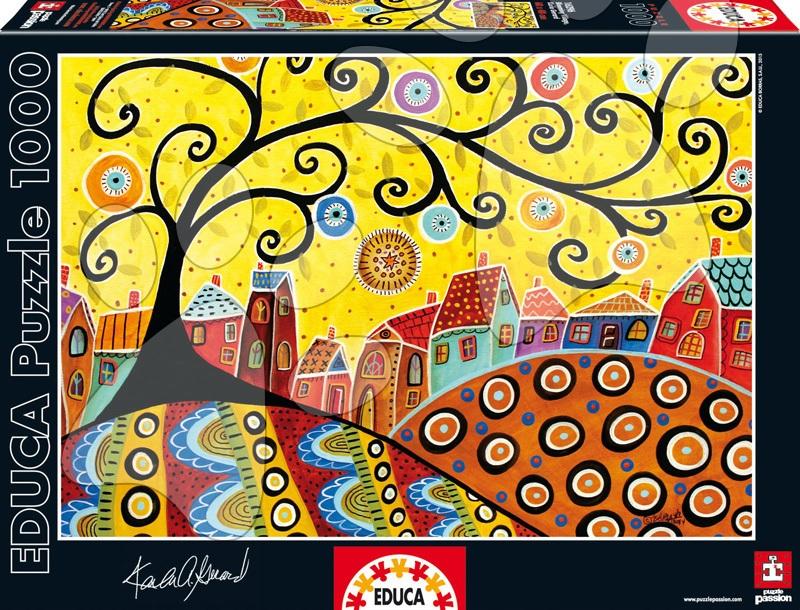 Puzzle 1000 dielne - Puzzle Blooming Village, Karla Gerard Educa 1000 dielov od 12 rokov