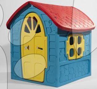 Domčeky pre deti - Záhradný domček Dohány s včielkou na streche modro-žltý od 24 mes