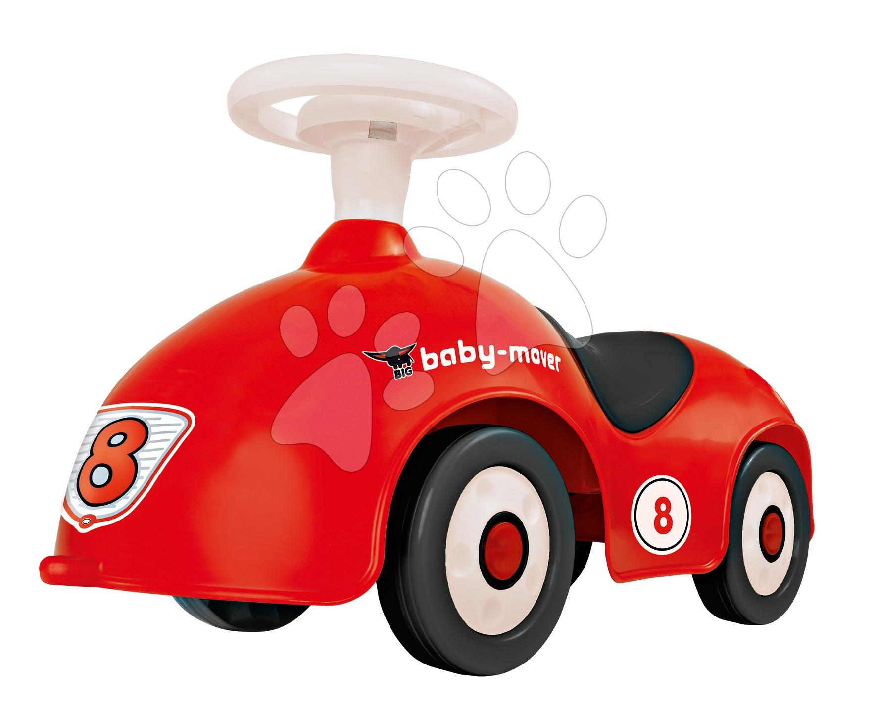 Staré položky - Odrážadlo Baby Mover BIG auto s klaksónom červené od 12 mes