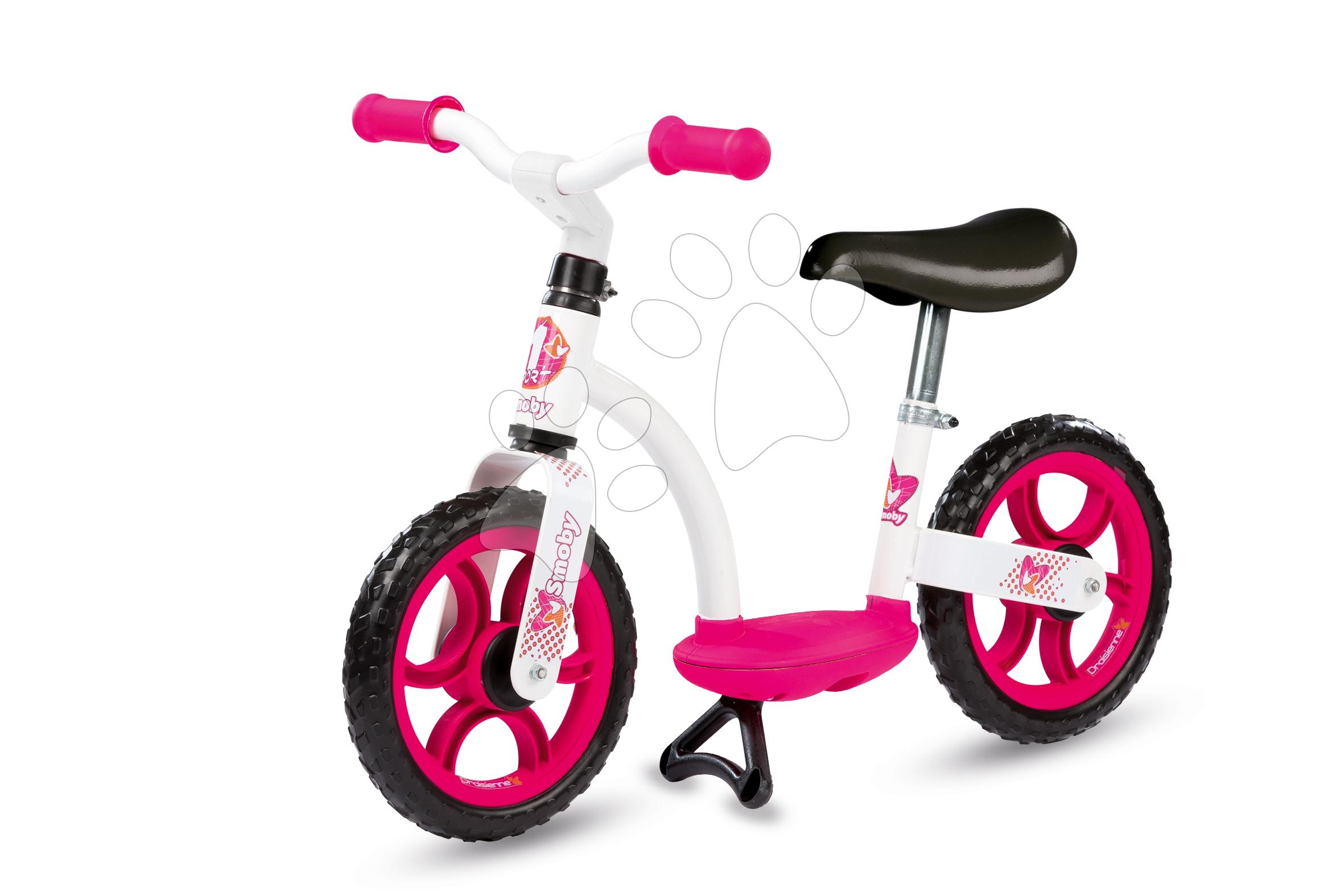 Balanční odrážedlo Learning Bike Smoby od 24 měsíců bílo-růžové