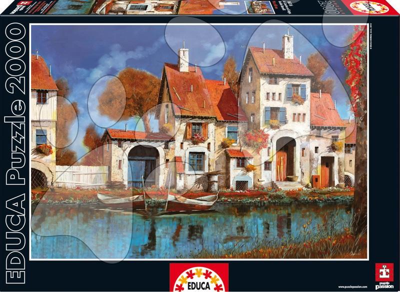 Puzzle 2000 dielne - Puzzle La Cascina Sul Lago, Guido Borelli Educa 2000 dielov