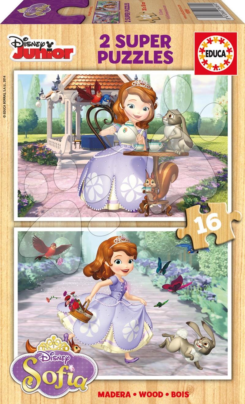 Dřevěné Disney puzzle - Dřevěné puzzle Sofia První Educa 2x16 dílů