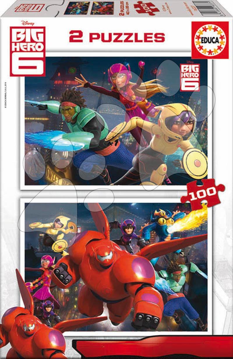 Detské puzzle od 100-300 dielov - Puzzle Veľký hrdina 6 Educa 2x 100 dielov od 5 rokov