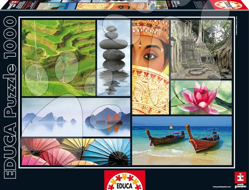 Puzzle 1000 dielne - Puzzle Colors of Asia Educa 1000 dielov od 12 rokov