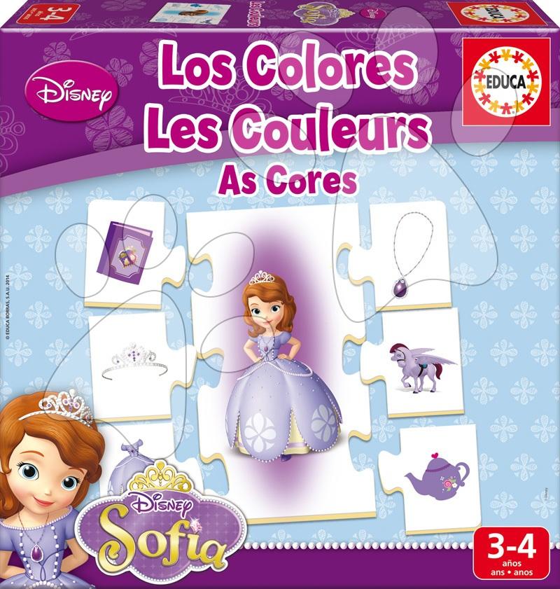 Detské puzzle do 100 dielov - Puzzle Farby Sofia Prvá Educa 42 dielov