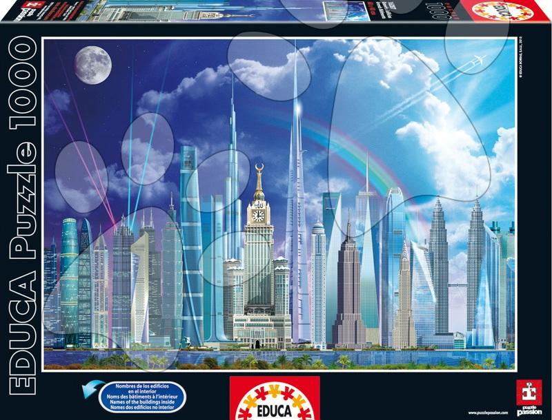 Puzzle 1000 dielne - Puzzle Genuine Tall Buildings Educa 1000 dielov od 12 rokov
