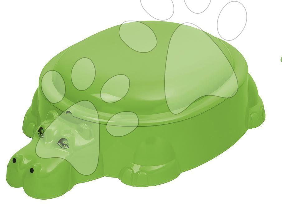 Pieskoviská pre deti - Pieskovisko Hroch Starplast s krytom objem 80 litrov zelené od 24 mes