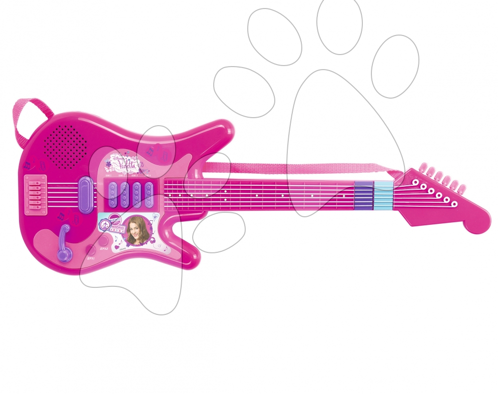 Detské hudobné nástroje - Hudobná gitara Violetta Zlatá edícia Smoby elektronická ružová