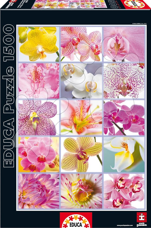 Puzzle 1500 dielne - Puzzle Genuine Koláž kvetov Educa 1500 dielov