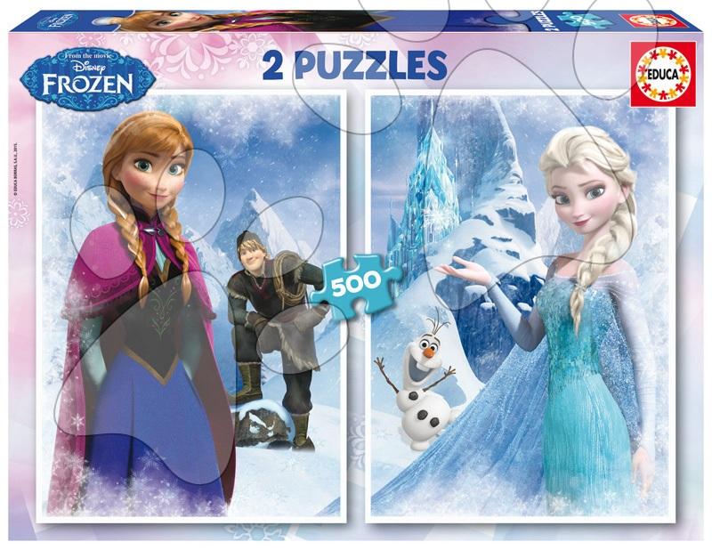 Puzzle Frozen - Ledové království Educa 2x500 dílů od 11 let