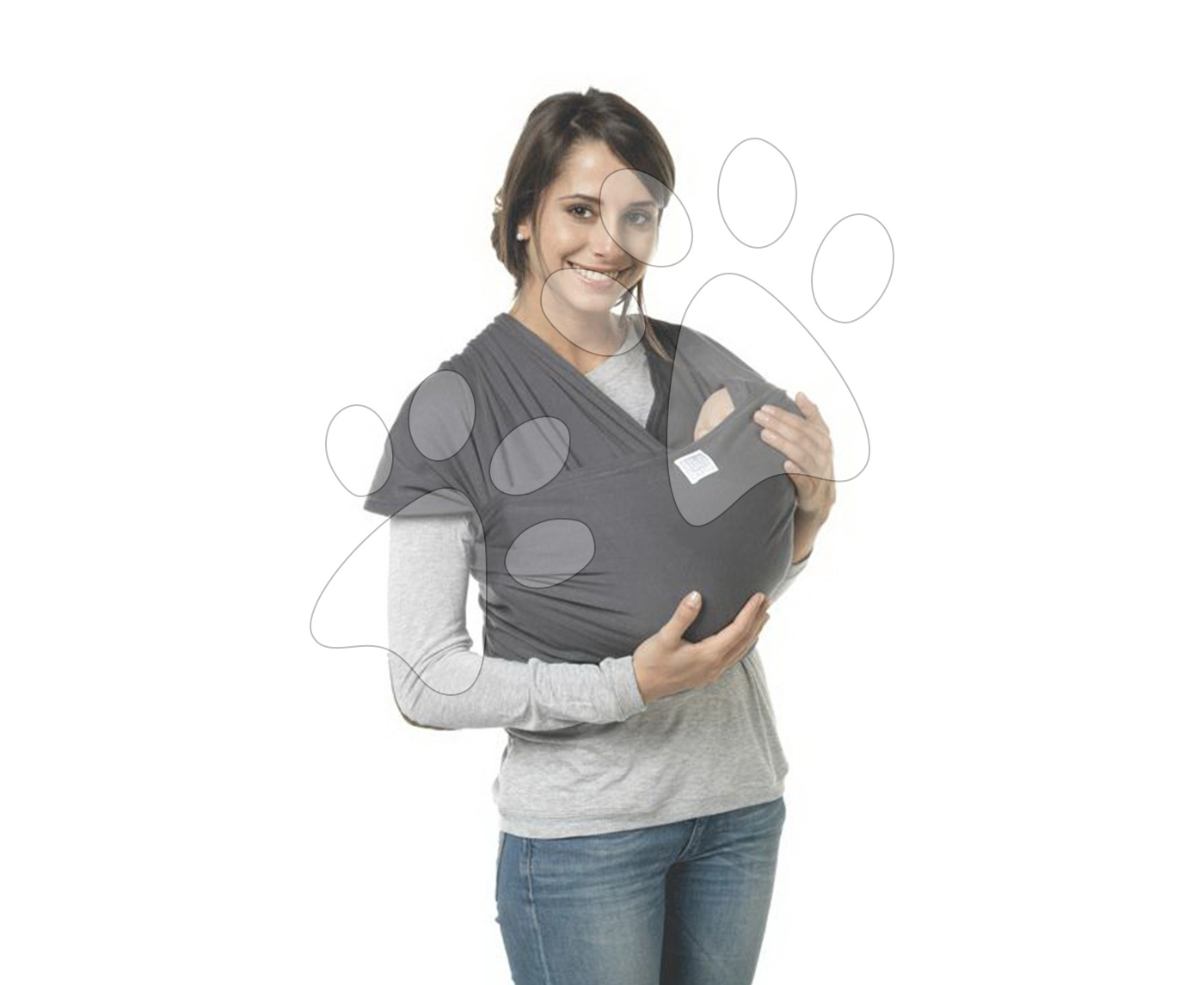 Nosič dětí šátek Red Castle Wrap od 3.5-18 kg velikost 4.70 m (36-42) šedý od 0 měsíců
