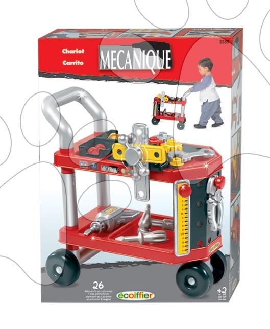 Régi termékek - Szerelőkocsi Mecanique Écoiffier 26 kiegészítővel 24 hó-tól