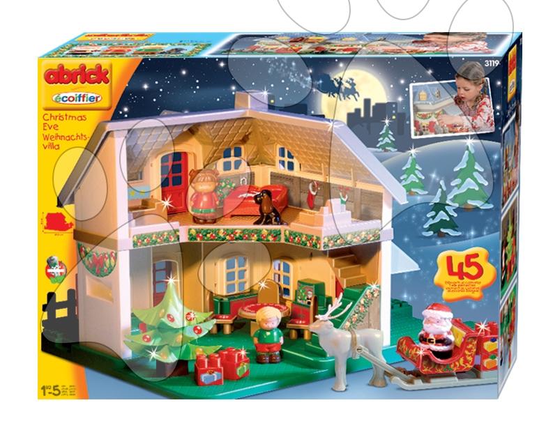 Căsuţă de Crăciun Abrick Écoiffier 45 de bucăţi de la 18 luni
