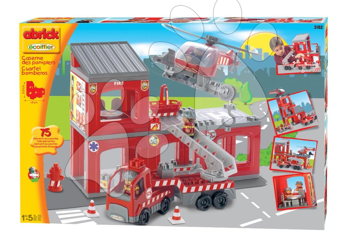 Abrick požární stanice Écoiffier 75 ks od 18 měsíců