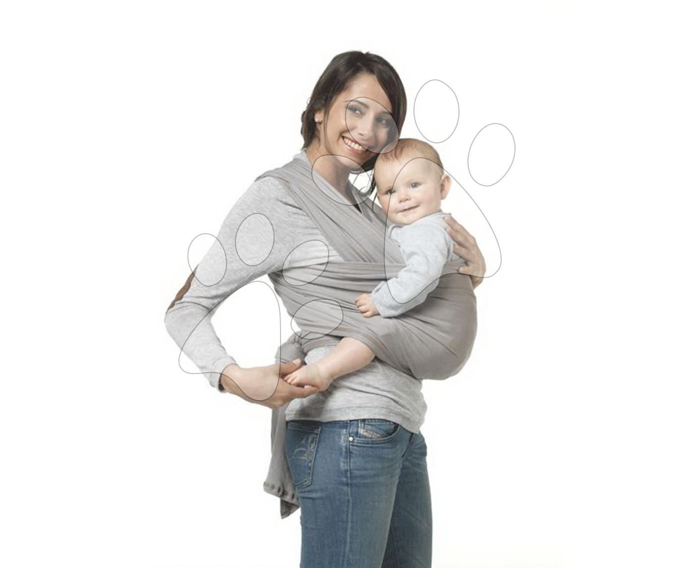 Nosič dětí šátek Red Castle Wrap od 3.5-18 kg velikost 4.70 m (36-42) stříbrný od 0 měsíců