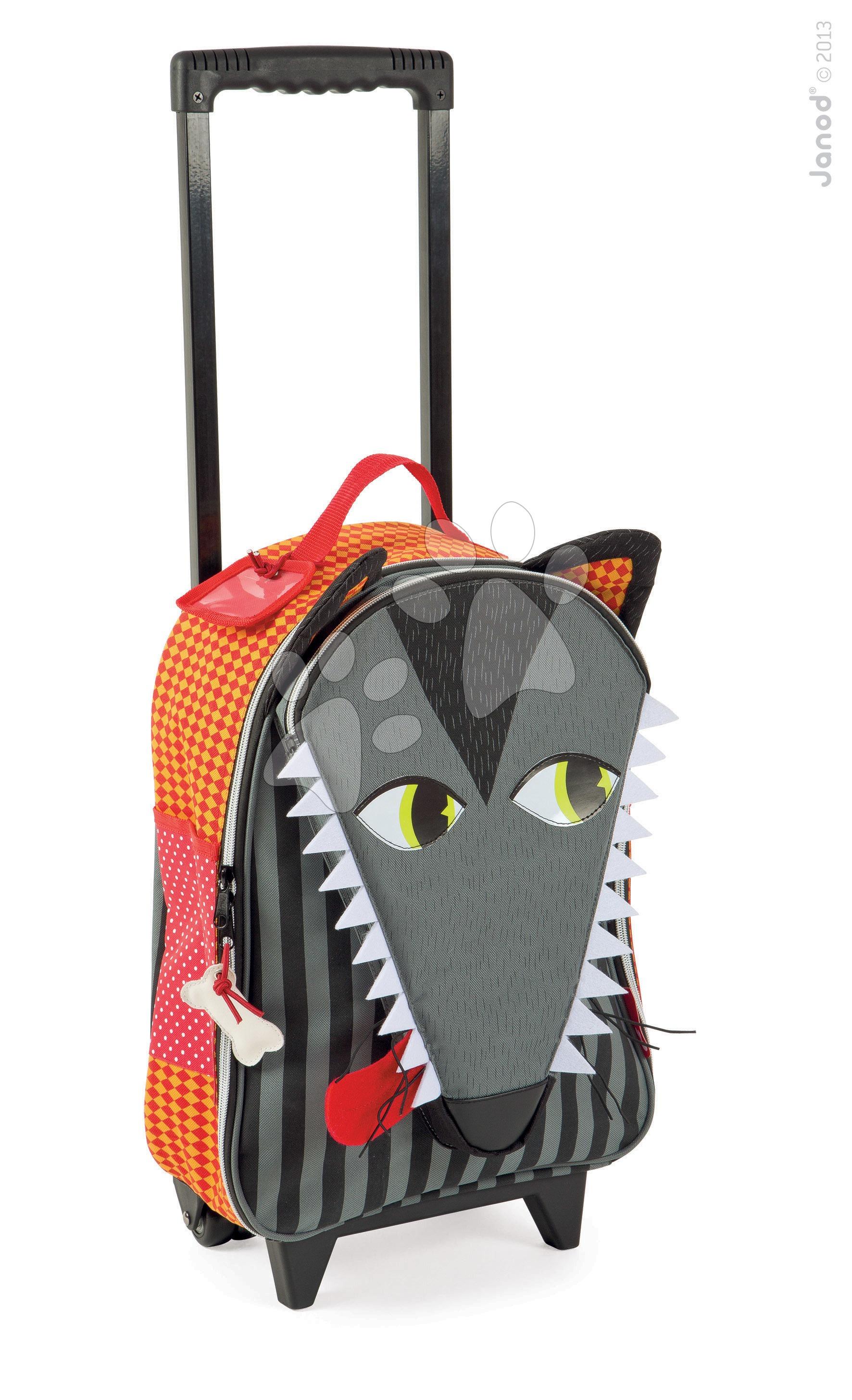 Dětský kufr Vlk Janod na kolečkách od 3-8 let