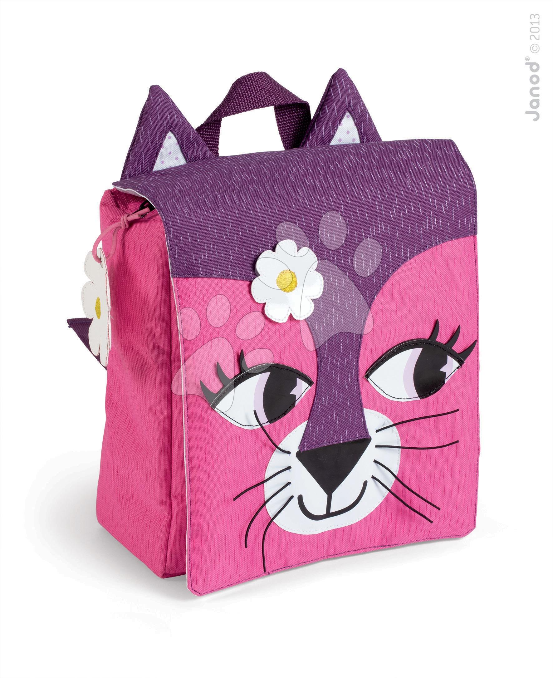 Dětský batoh Kočička Janod na zip od 3-8 let