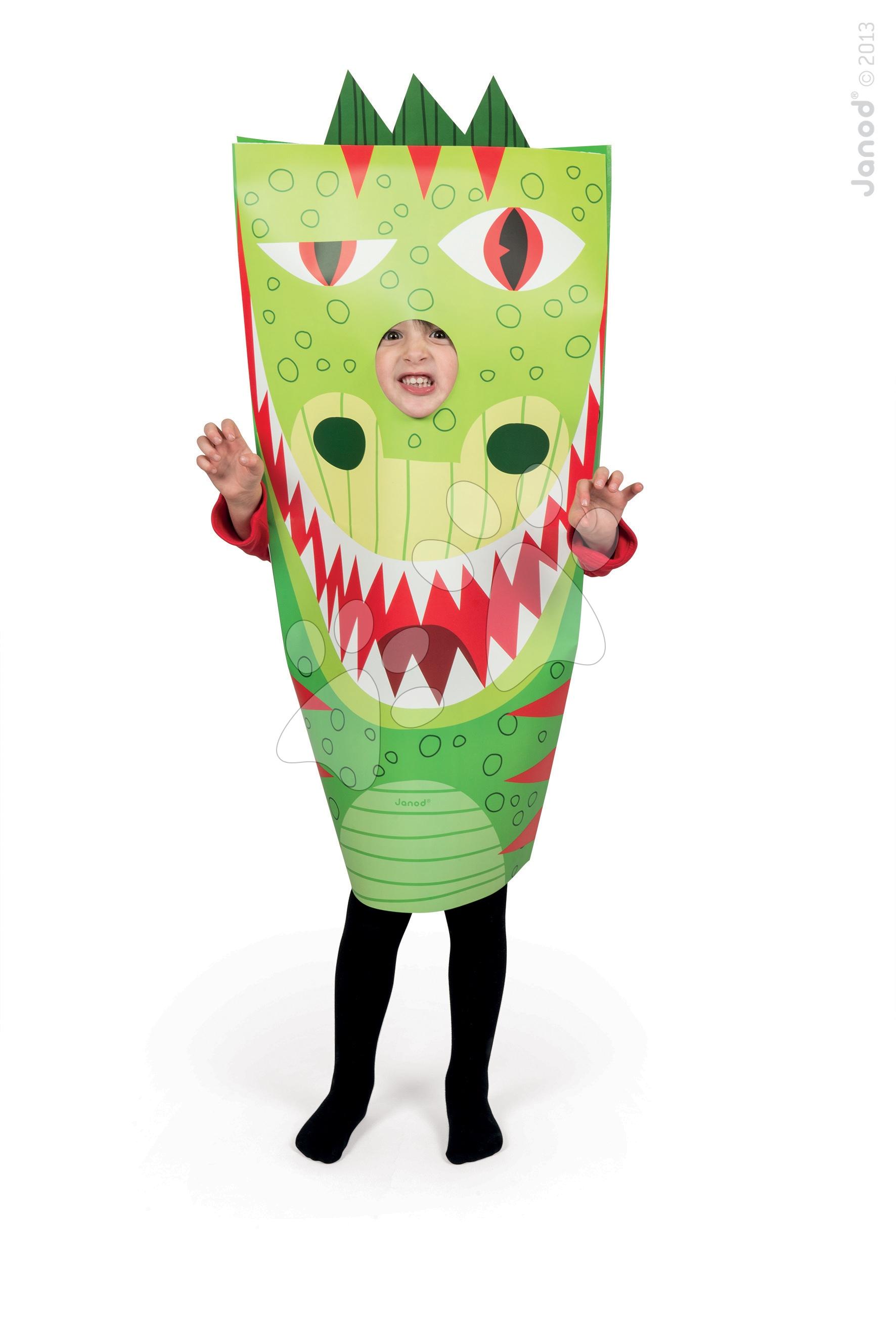 Karnevalový kostým T-Rex Dino Sackanimo Janod z lehkého kartonu