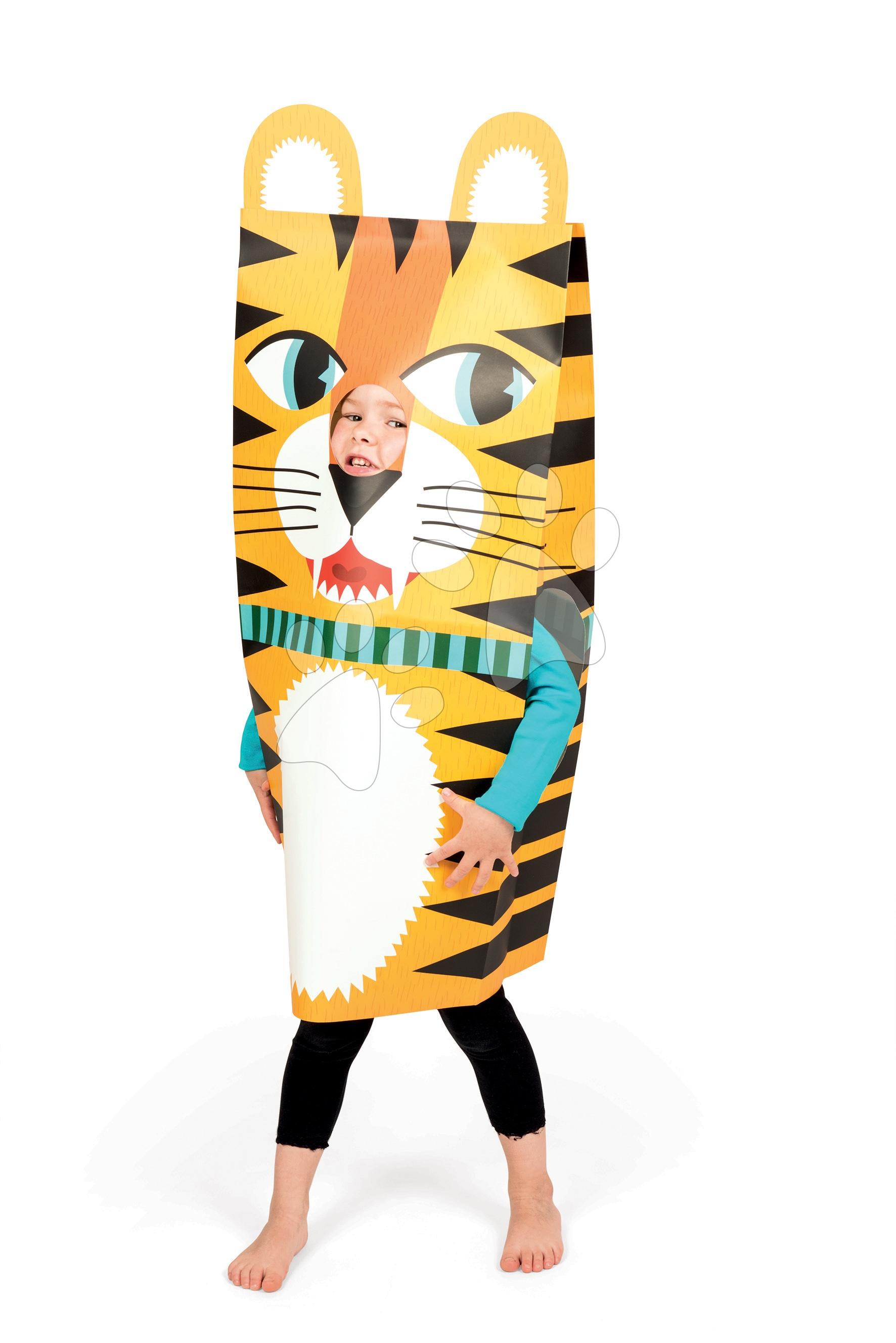 Ručné práce a tvorenie - Karnevalový kostým Tiger Sackanimo Janod