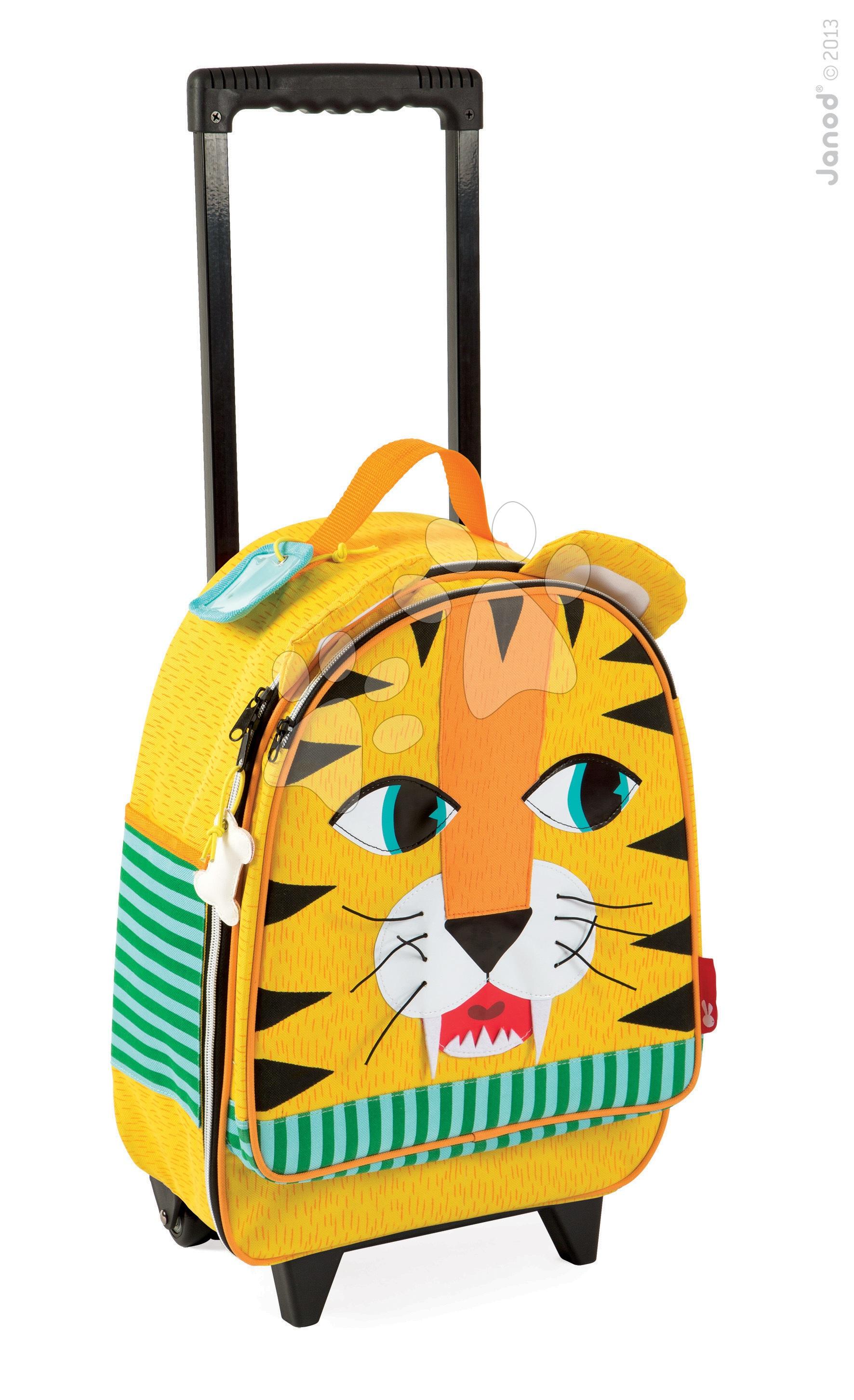 Školské tašky a batohy - Kufor Tiger Janod na kolieskach od 3 rokov