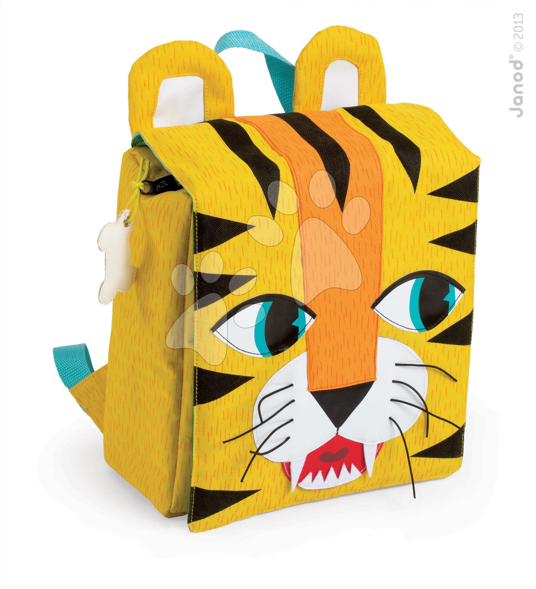Batoh pro děti Tiger Janod na zip od 3-8 let