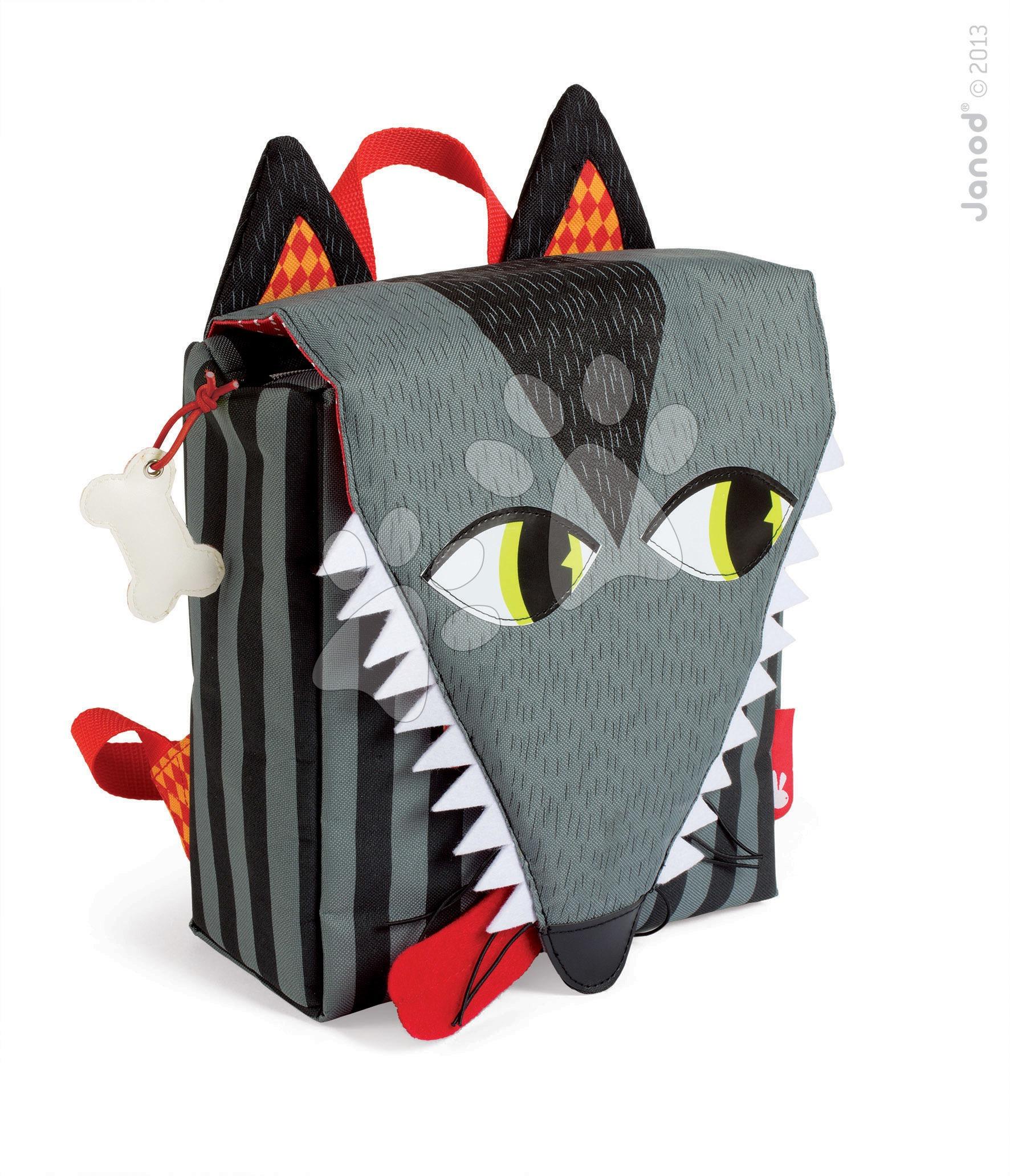 Batoh pro děti Vlk Janod na zip od 3-8 let