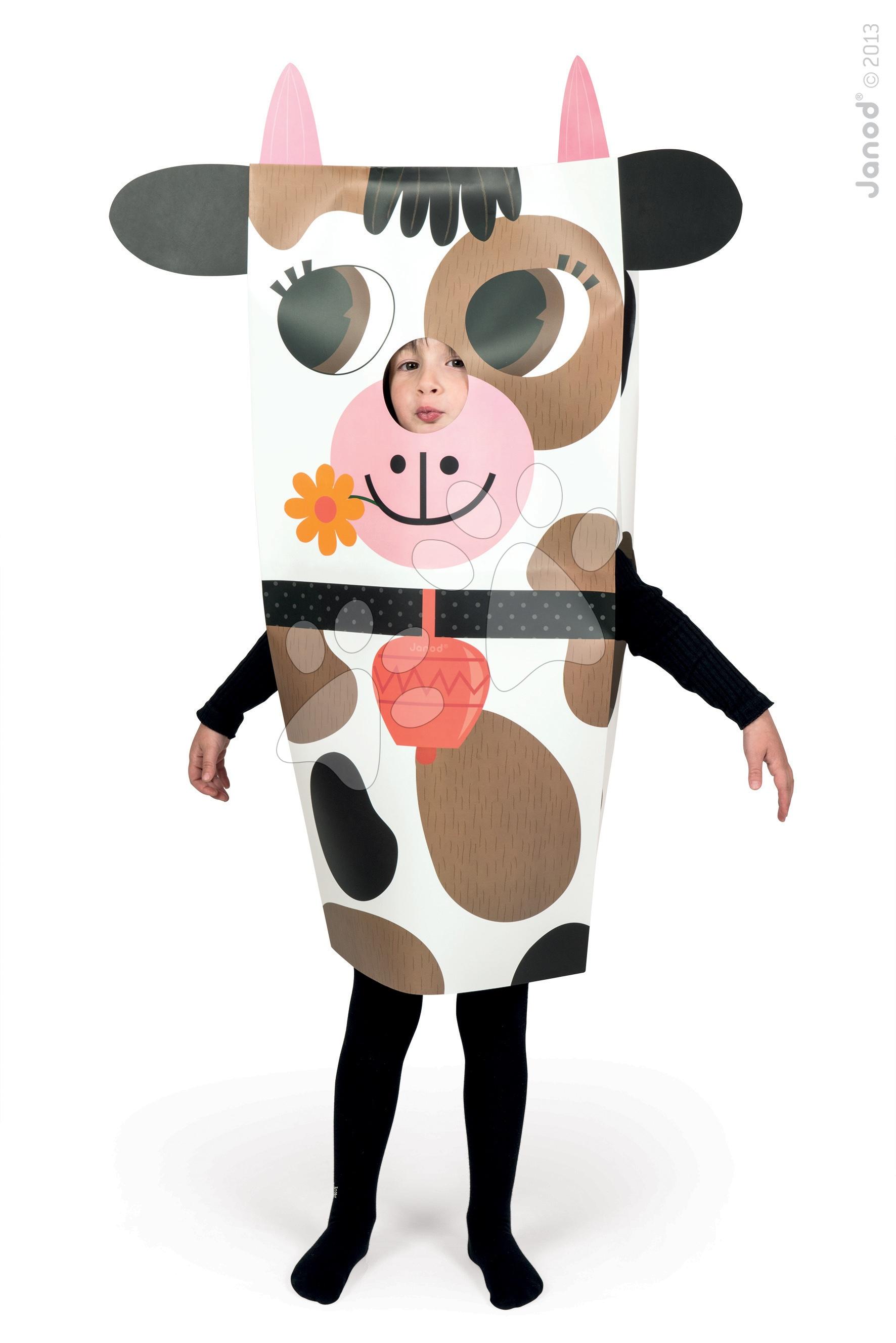 Ručné práce a tvorenie - Karnevalový kostým Kravička Sackanimo Janod