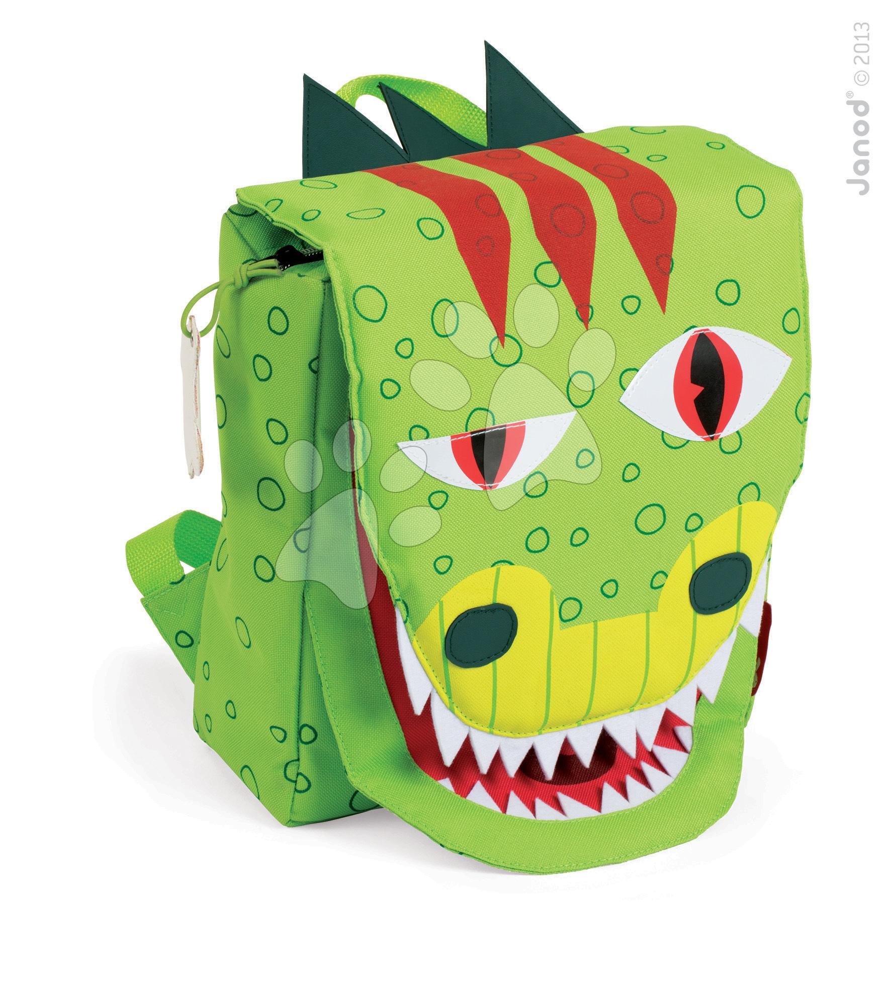 Školské tašky a batohy - Batoh T-Rex Dino Janod na zips od 3 rokov