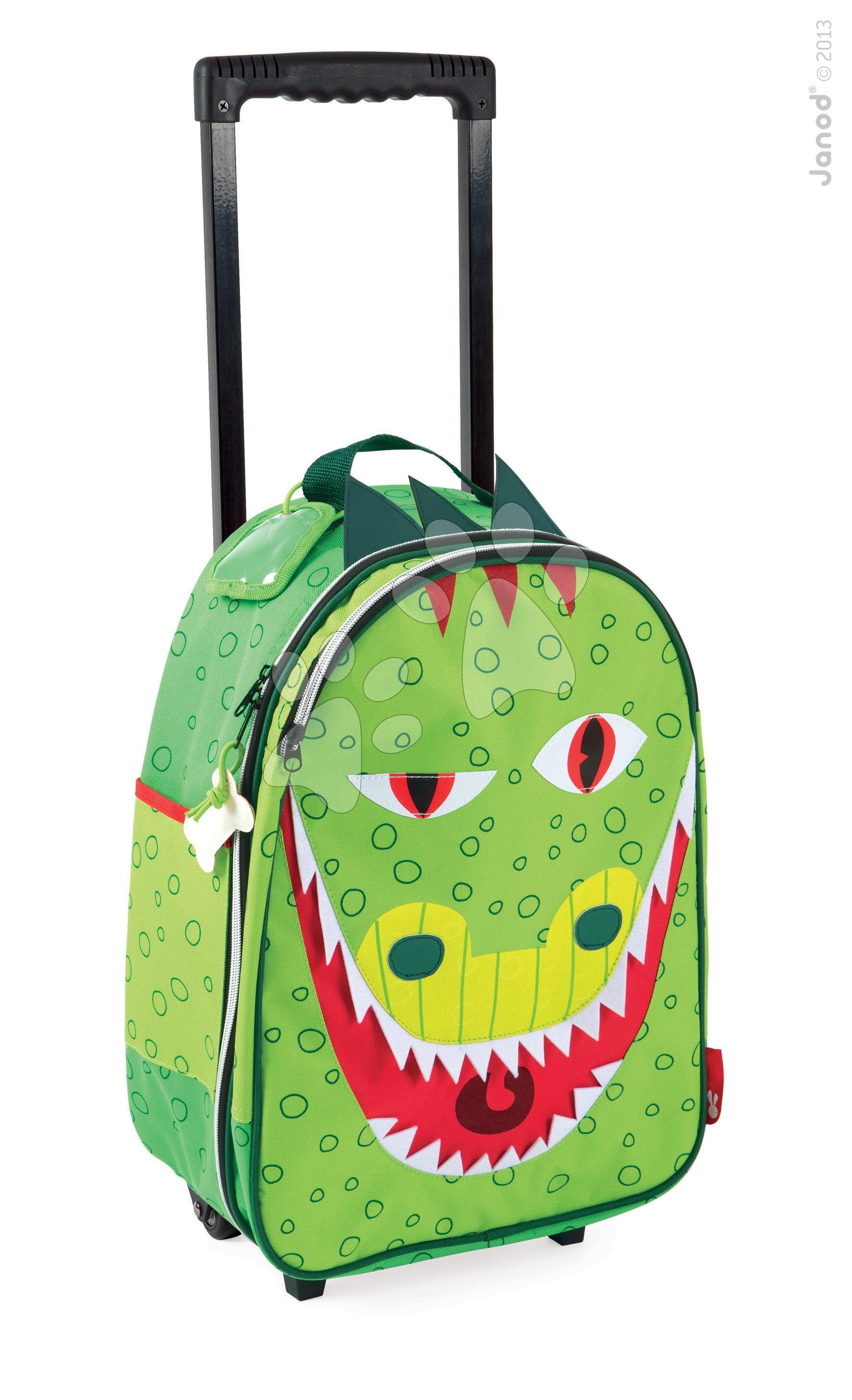 Dětský kufr T-Rex Dino Janod na kolečkách od 3-8 let