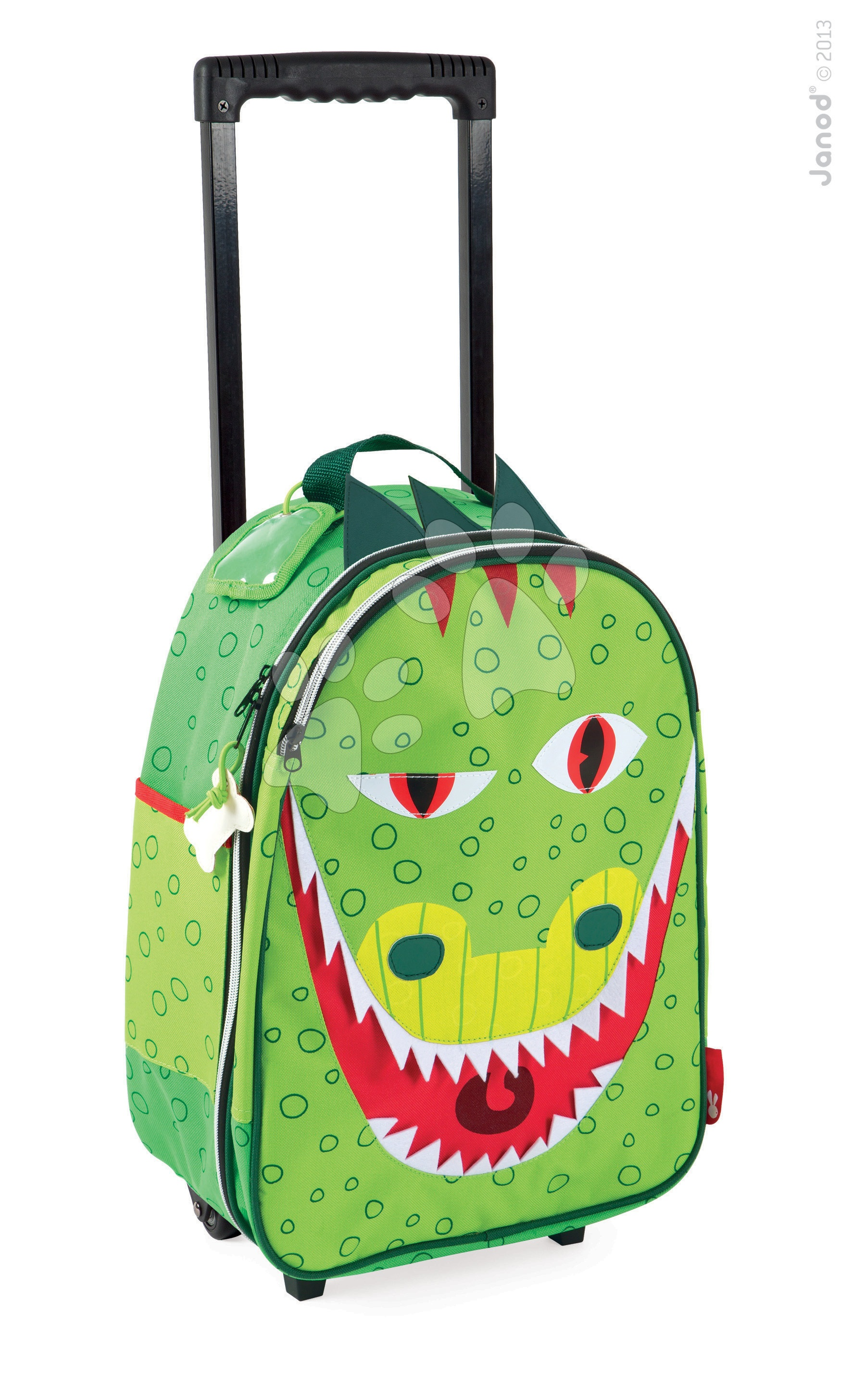 Školské tašky a batohy - Kufor T-Rex Dino Janod na kolieskach od 3 rokov