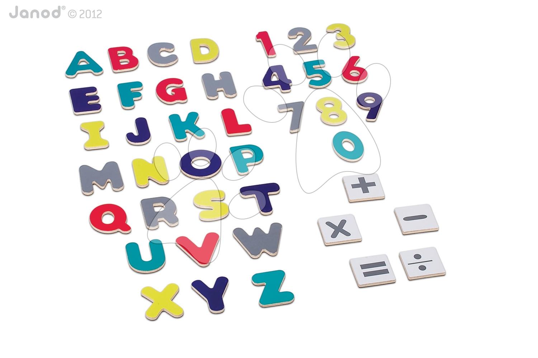 Magnetky pre deti - Magnetická abeceda Graffiti Janod 52 ks