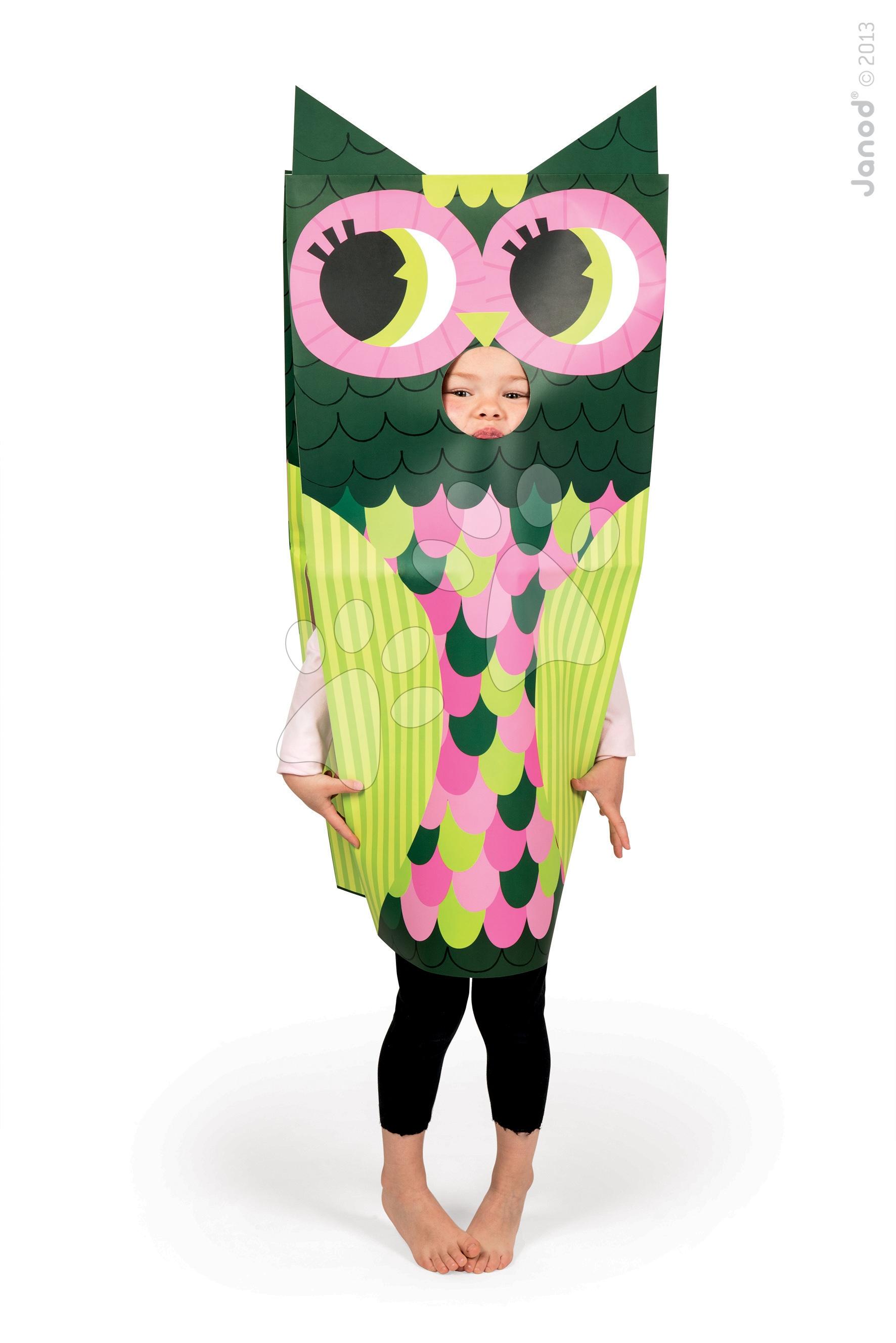 Karnevalový kostým Sova Sackanimo Janod z lehkého kartonu