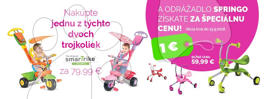 K jednej z dvoch trojkoliek smarTrike - odrážadlo Springo za 1 €!