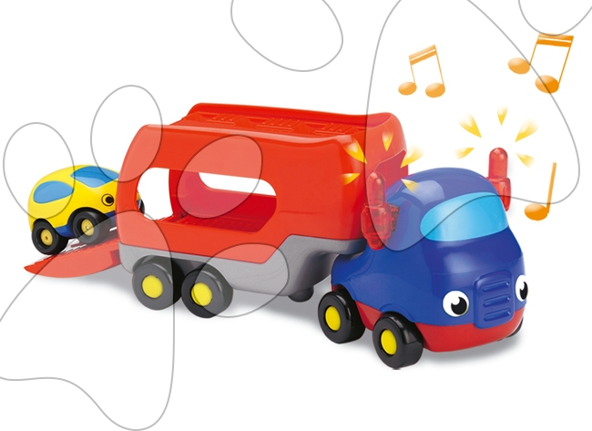 Staré položky - Elektronický kamión Vroom Planet Smoby s autíčkom