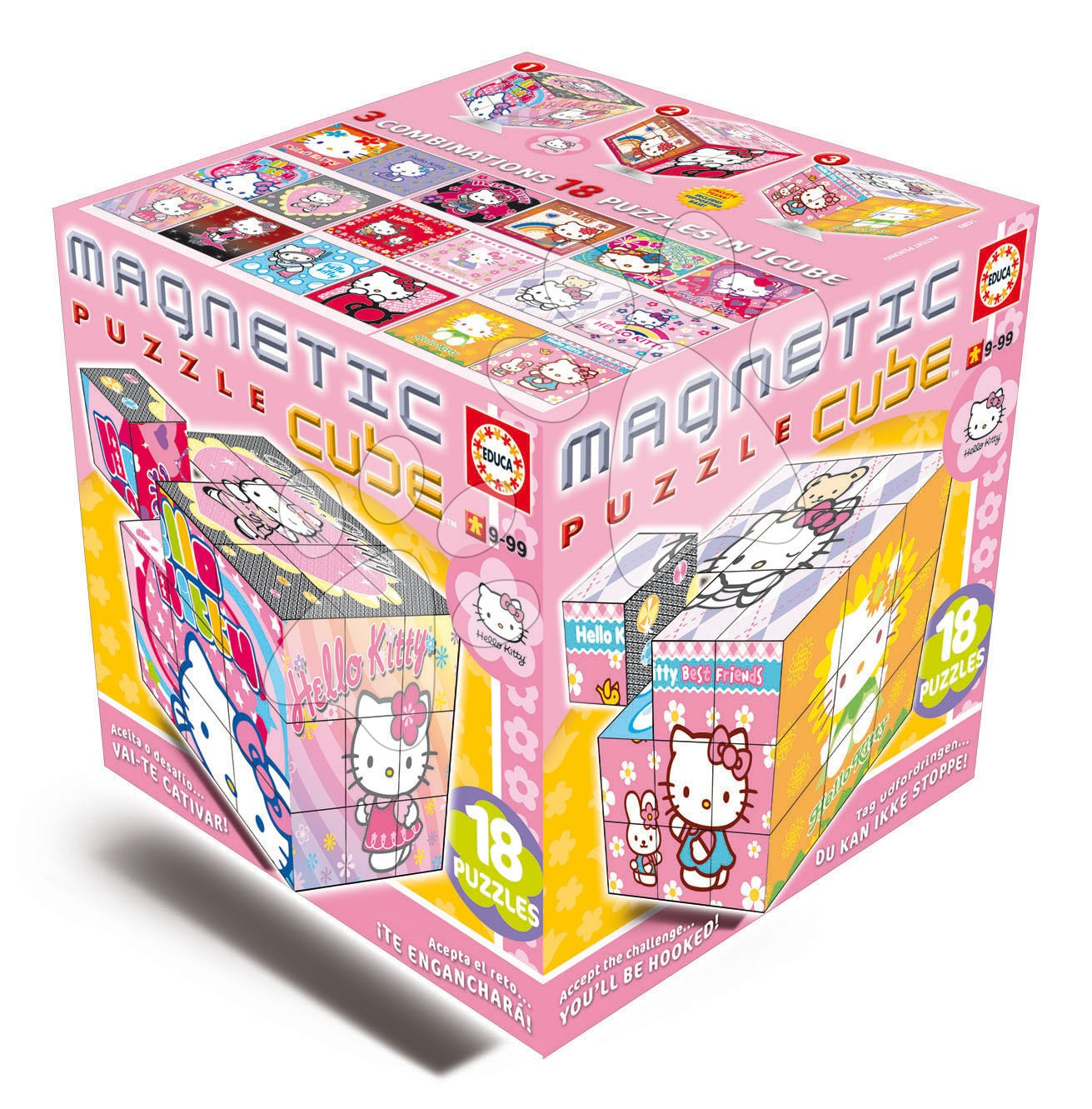 Staré položky - Puzzle Magnetic Cube, Hello Kitty Educa od 9 let