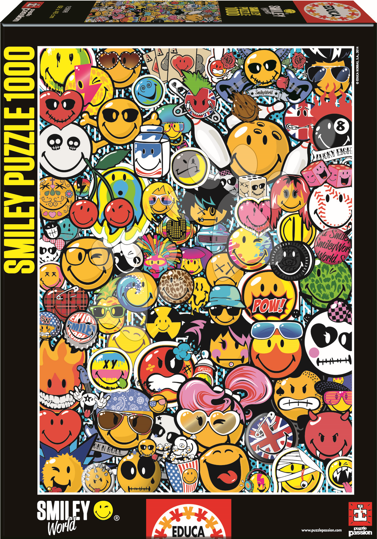 Lepidla a podložky - Puzzle Smiley World Educa 1000 dílů od 12 let