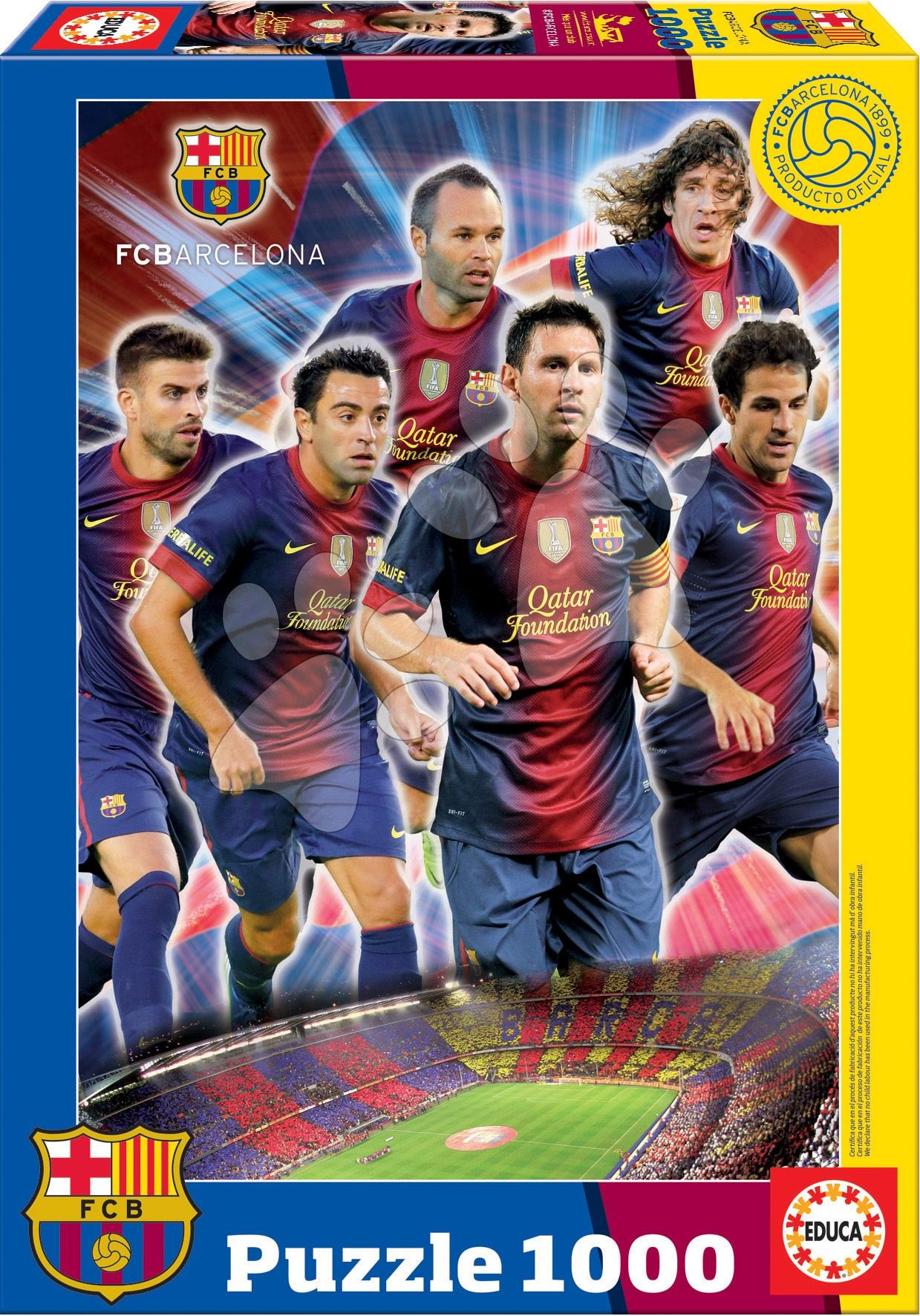Puzzle FC Barcelona Collage Educa 1000 dílků a FIX PUZZLE LEPIDLO