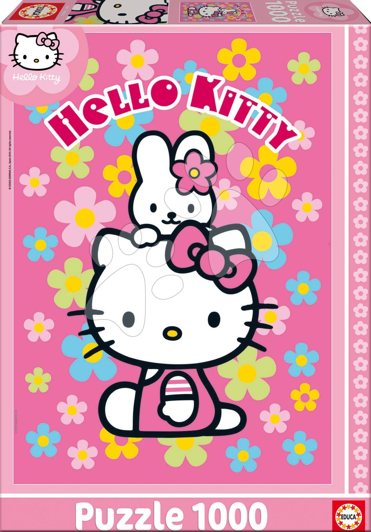 1000 delne puzzle - Puzzle Hello Kitty Educa 1000 delov od 12 leta