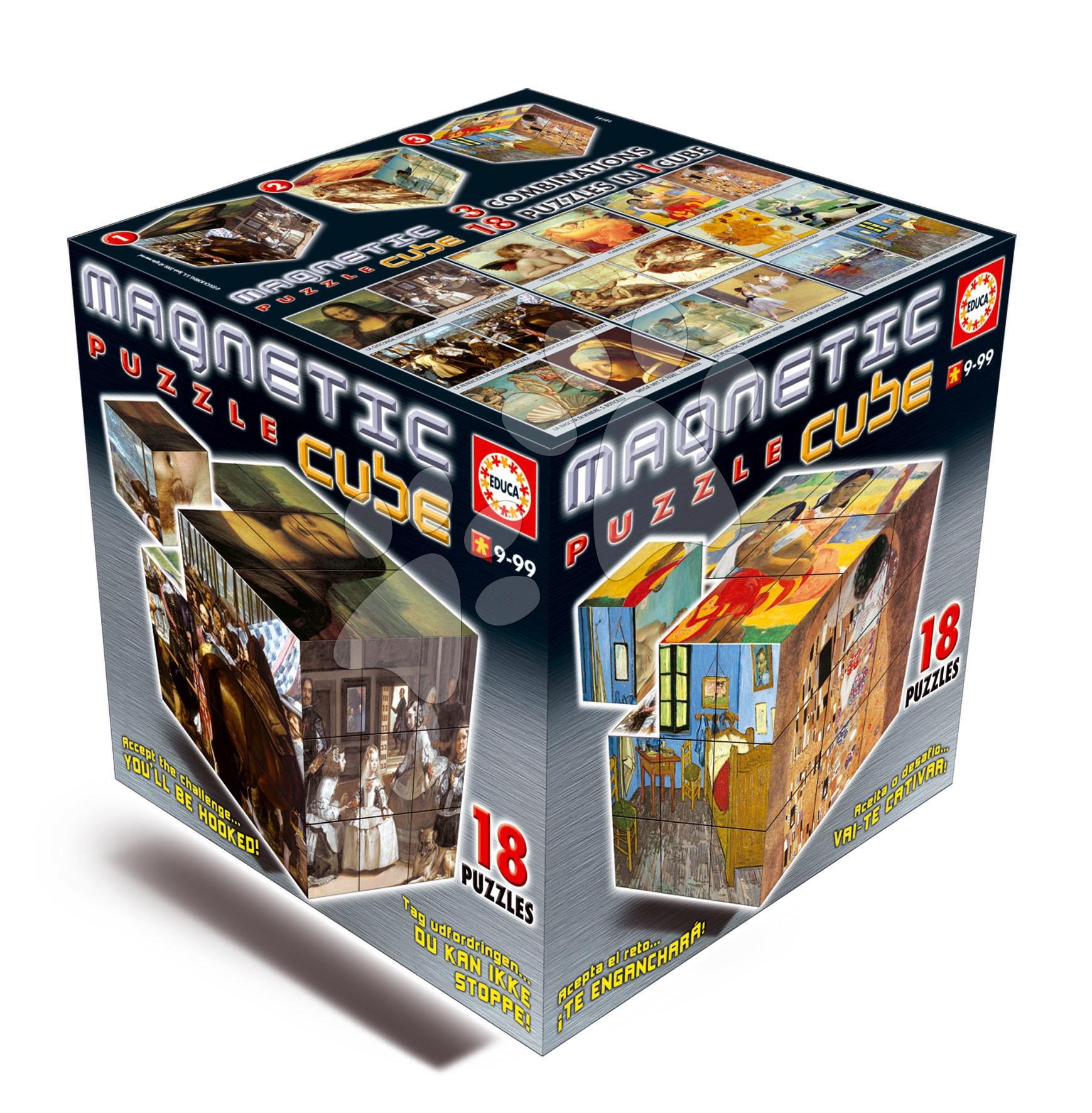 Pohádkové kostky - Puzzle Magnetic Cube, Works of Art Educa 14101 Puzzle Magnetic Cube, Works of Art od 9 let