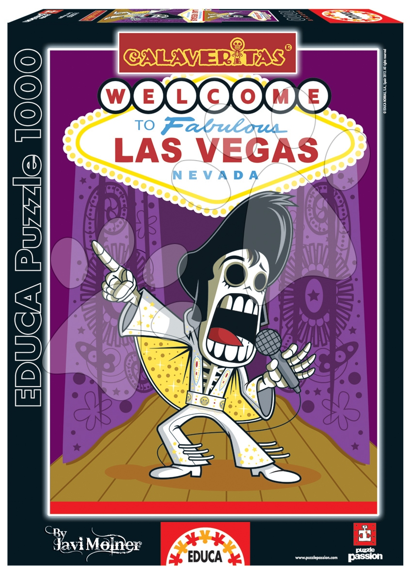 Puzzle Calaveritas Elvis Zombie Celebrity Educa 1000 dielov od 12 rokov