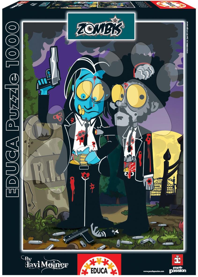 Puzzle 1000 dielne - Puzzle Zombies Silver Pulp Fiction Educa 1000 dielov od 12 rokov