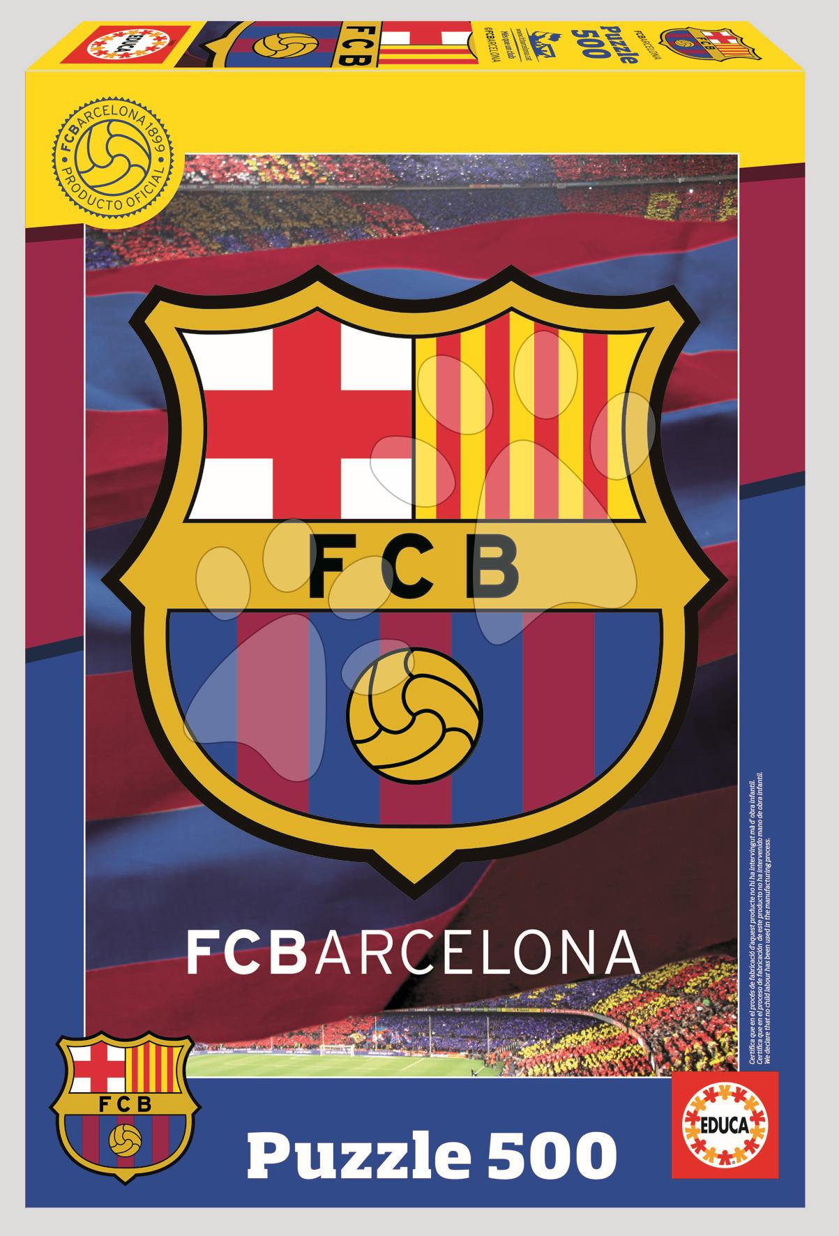 Puzzle FC Barcelona Educa 500 dielov od 11 rokov